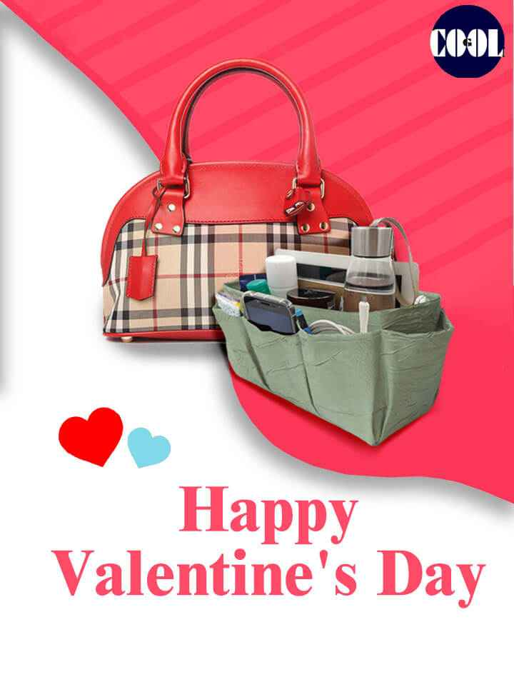 Valentine day Purse Oorganizer