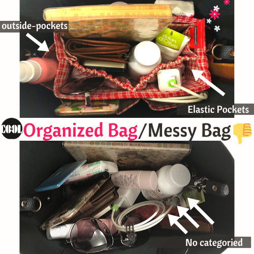 The difference of Bag Organizer and Messy Bag